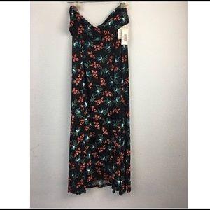 LulaRoe Maxi Skirt  NWT Birds Black Orange S (6-8)